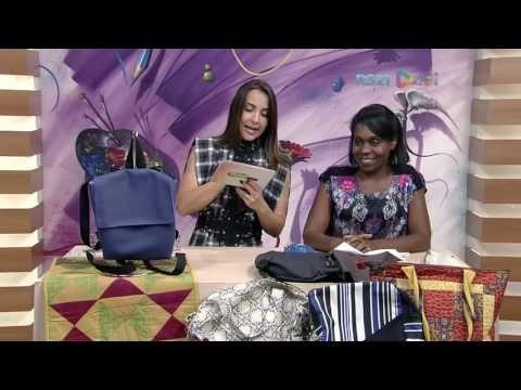 Bolsa mochila por Flavia Cabral - 04/03/2017 - Mulher.com  P1 - YouTube