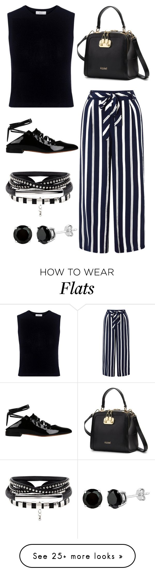 """""""Back to Black, 1950."""" by anybarb on Polyvore featuring A.L.C., Monsoon and Givenchy"""