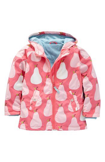 Mini Boden Jersey Lined Rain Jacket (Little Girls & Big Girls) | Nordstrom