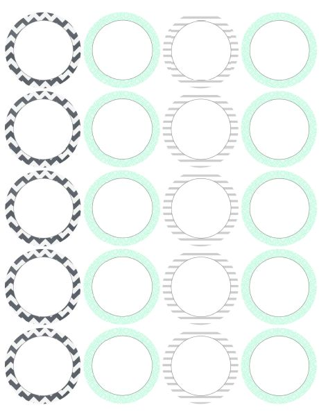 Universal image throughout printable circle stickers