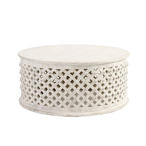 The Bornova Coffee Table shown here in white may be ideal for the sectional we're thinking of putting in our breakfast nook area.