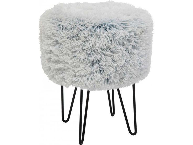 Taboret Florida Fur Polar — Taborety — KARE® Design