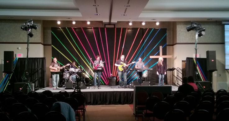 Colorful Duct Tape | Church Stage Design Ideas | Youth Room