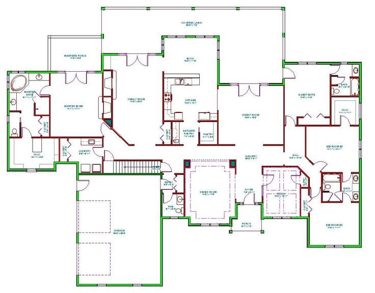 344 best big house plans images on pinterest country for Large home plans