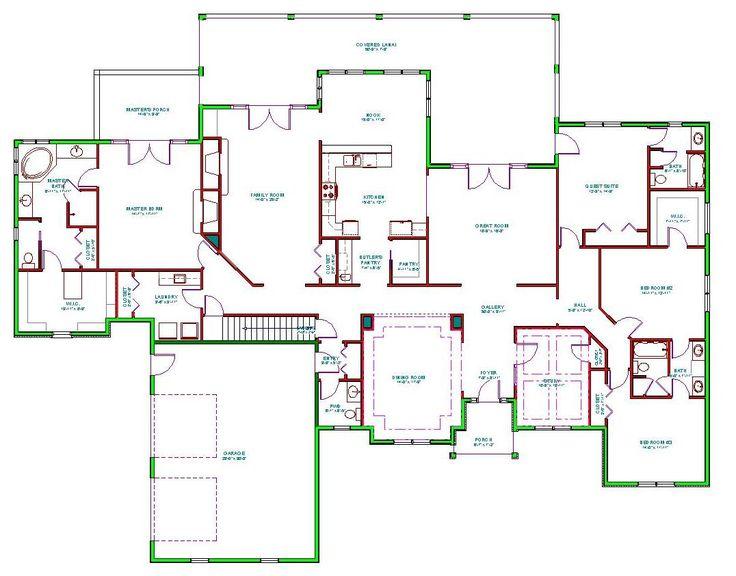 344 Best Big House Plans Images On Pinterest