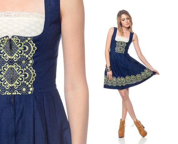 German Dirndl Dress - via Etsy