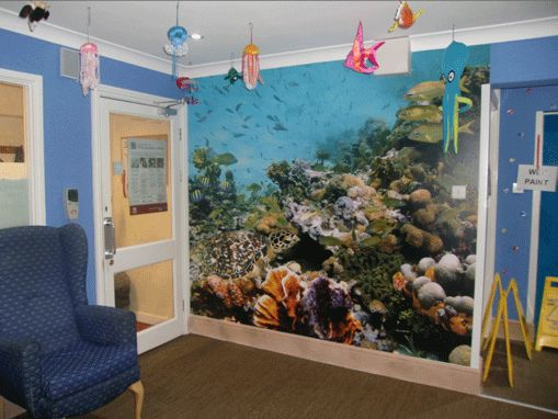 Under The Sea Wall Mural Installed In A Care Home To Give A Calming Feel To