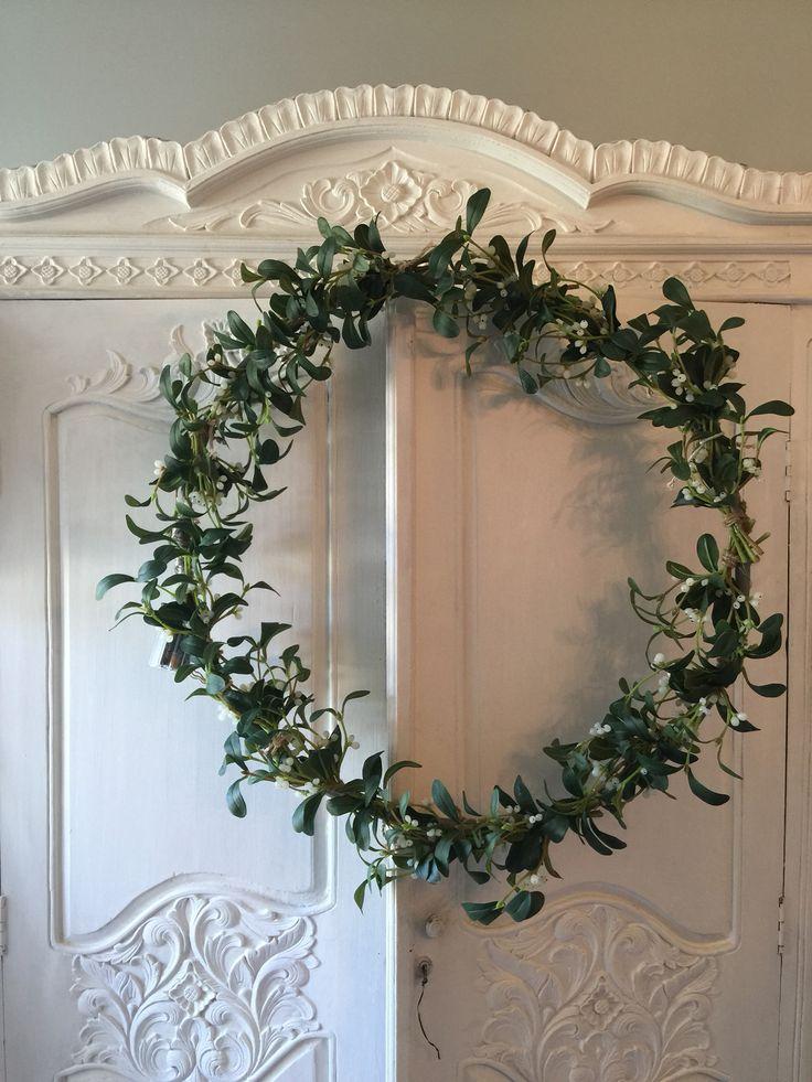 Making a wreath for the Berwick deli window