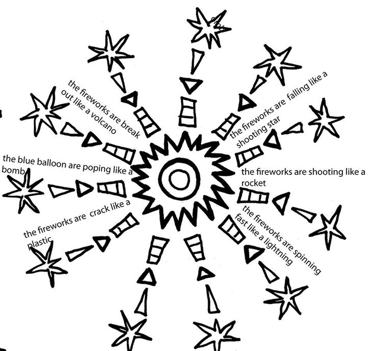 Firework Shape Poem