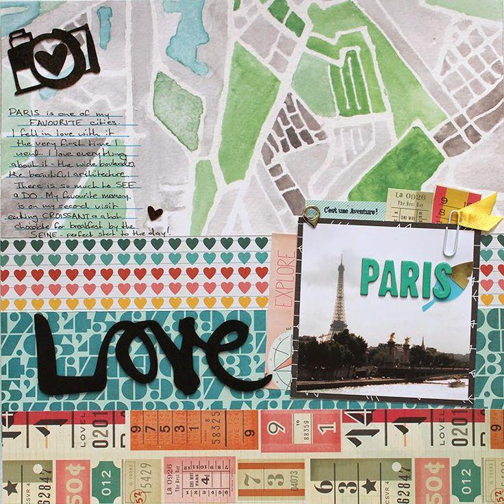 'Paris' by Manda More, using Polly! Scrap Kits March 2014 Spearmint Leaves scrapbooking kit (with bonus video!)