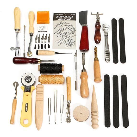 Leather Tools 30pcs Leather Kit Leather Working Tools