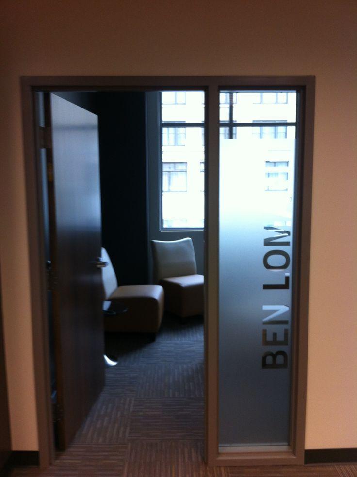 Office side light interior vinyl decor pinterest for Interior office doors