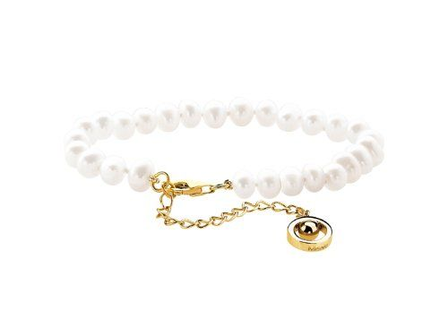 Misaki Misaki Bracelet Classic QCUBWH167 High Gloss White Freshwater Pearl Bracelet: Amazon.co.uk: Jewellery