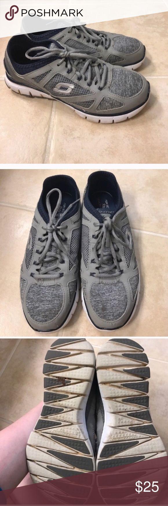 Skechers size 8.5 grey memory foam sneakers Size 8.5 grey Skechers memory foam sneakers Skechers Shoes Sneakers
