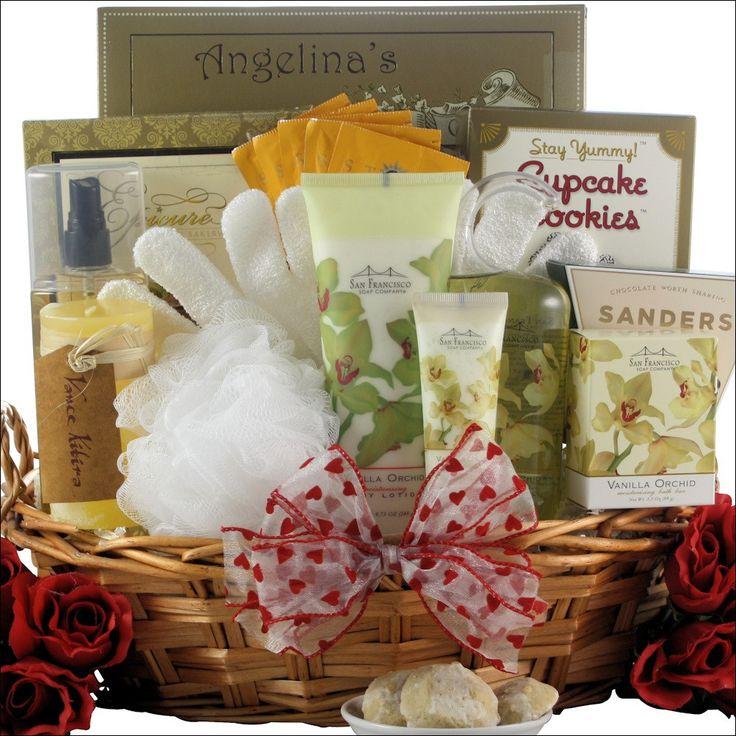 Vanilla Orchid Spa Luxuries: Bath & Body Spa Valentine's Day Gift Basket