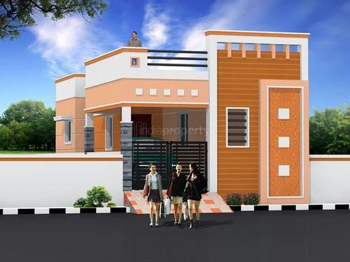 191 best house elevation indian single images on pinterest for Outer look of house design