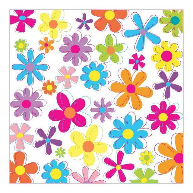 Kindervliestapete Viereck »Retro Flowers«   – Products