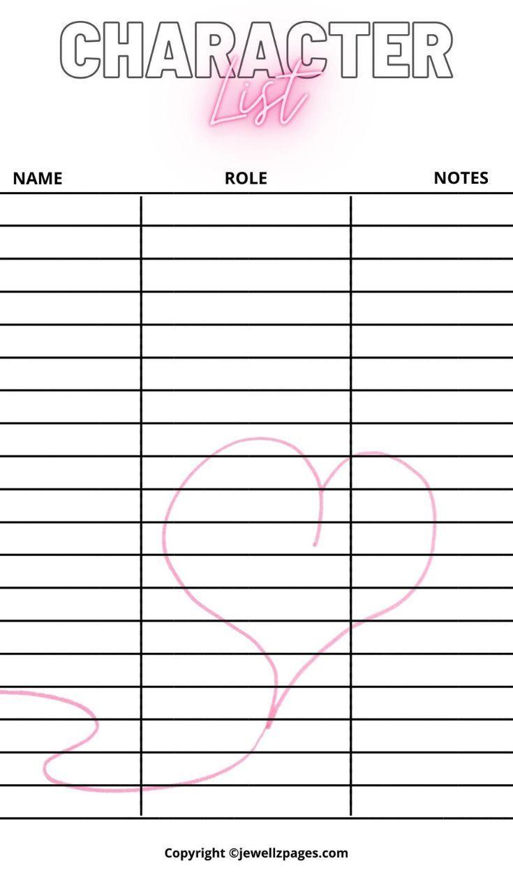 Romance Book Planner Workbook Worksheets Nanowrimo Etsy Author Planner Planner Writing Planner Book