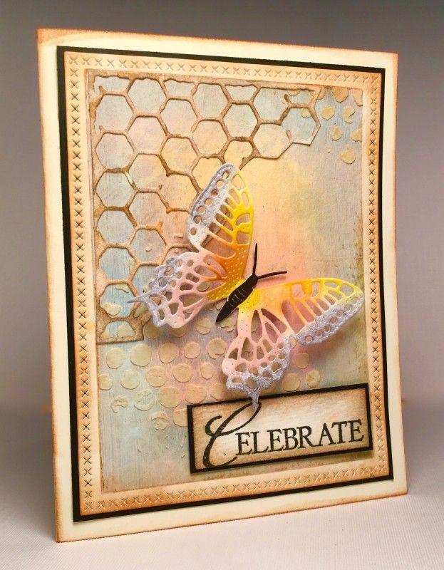 Бабочка открытка скрапбукинг, открытка парикмахеру