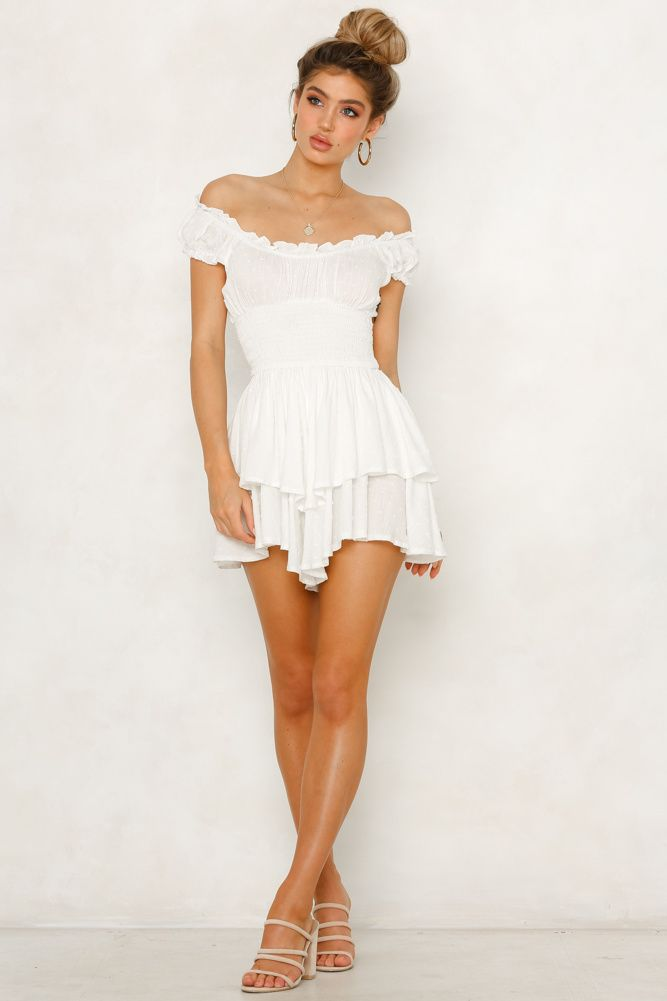 aa00191f6a2 Rory Playsuit White CollectiveStyles.com ♥ Fashion
