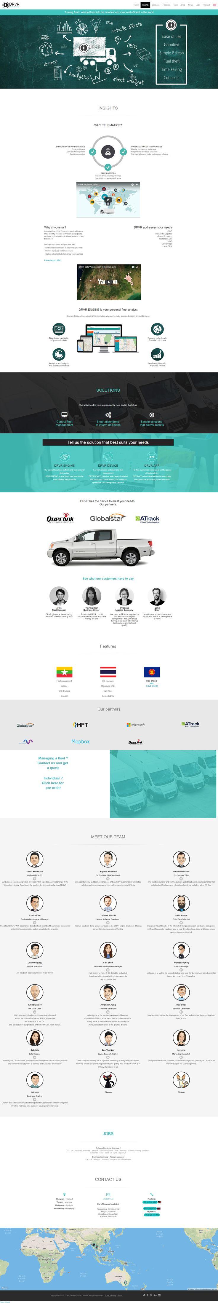 Website design - Fleet Analytics