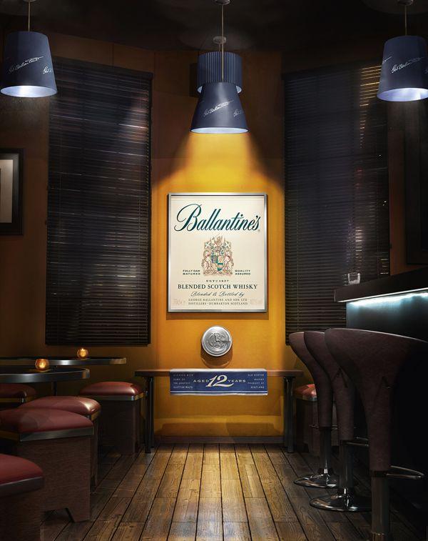 Ballantines Scotch Whisky on Digital Art Served