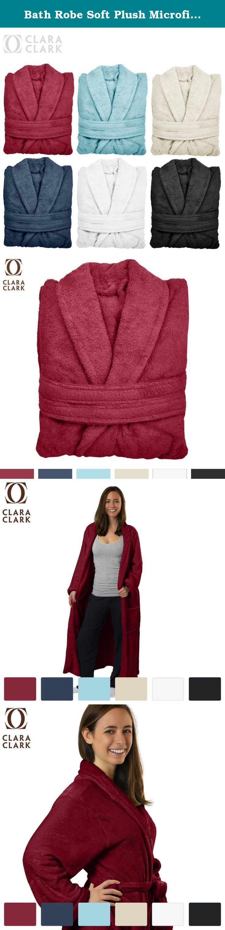Bath Robe Soft Plush Microfiber, Lightweight Spa Bathrobe, Burgundy. The Best Quality Bath Robe on Amazon. 100% Luxury Soft Microfiber, Hypoallergenic, Cool & Breathable. For Men and Women. Clara Clark - Over 40 Years of Experience in the Bedding Industry. Over 4000+ Happy Customers 5-Star Reviews!!! Clara Clark Clara Clark is highly committed to its customers, we stand behind our product and customers. Our ultimate goal is to satisfy each and every customer, from the moment you purchase…