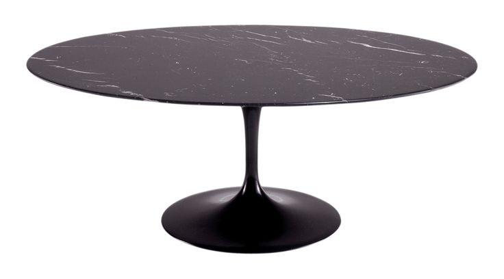 TABLE OVALE SAARINEN DIAM 198 CM MARBRE NOIR KNOLL
