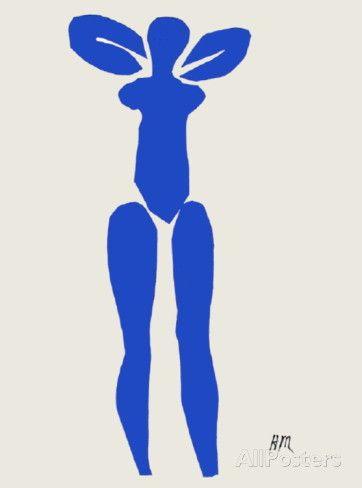 Papiers Decoupes - Nu Bleu Debout Collectable Print by Henri Matisse at AllPosters.com mini print 7x9.5