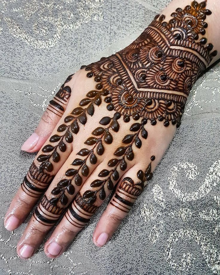 """8,371 Likes, 24 Comments - ✨ Daily Henna Inspiration ✨ (@hennainspo_) on Instagram: """"try this for your #eidhenna  // by @fauzellaartistry . . #henna #mehndi #whitehenna…"""""""
