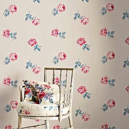 Tissus Sanderson #sanderson_wallpaper #sanderson #papel_pintado #papel_pared #papel_pintado_flores #estudio_estilo #papel_pintado_sanderson