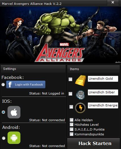 Marvel Avengers Alliance Hack [WORKING]