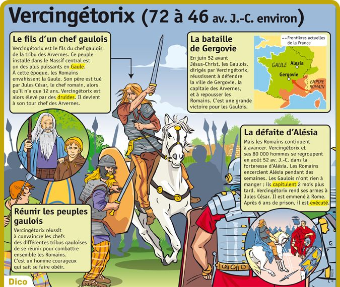 Fiche exposés : Vercingétorix                                                                                                                                                                                 Plus