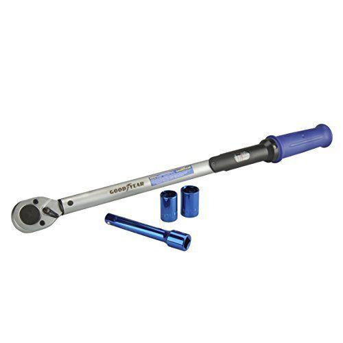 Goodyear 75522 Clé Dynamométrique: * Dimensions produit, longueur : 65 cm * Ouverture de clé : 17, 19 mm * Précision du déclenchement : ± 4…