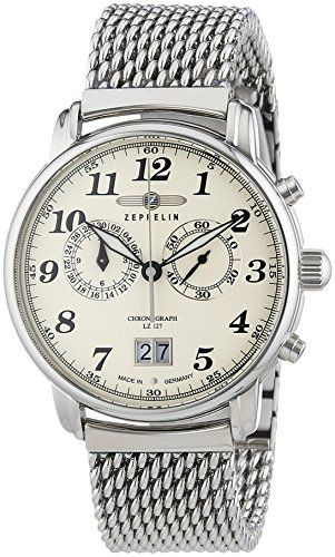 Zeppelin Mens Watch LZ127 Graf XL Chronograph Quartz Stainless Steel 7684 M5 You have to hand it to Zeppelin, they know how to manufacture and design timeless watches. This Mens Graff Zeppelin Watch 7684M-5 epitomises the Zeppelin ethos, creating (Barcode EAN = 4041338768404) http://www.comparestoreprices.co.uk/december-2016-4/zeppelin-mens-watch-lz127 graf-xl-chronograph-quartz-stainless-steel-7684 m5.asp