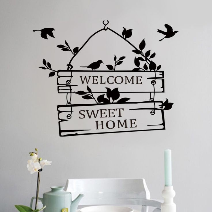 Welcome Sweet Home Birds Wall Sticker //Price: $8.68 & FREE Shipping //     #housedecoration
