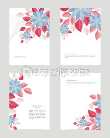Download - Templates A4 form, decorative flowers — Stock Illustration #113958860