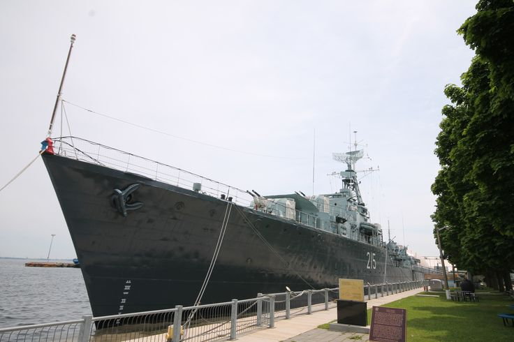Down on the water is the HMCS Haida National Historic Site. Experience life aboard a WWII Tribal Class Destroyer - Canada's most decorated warship!