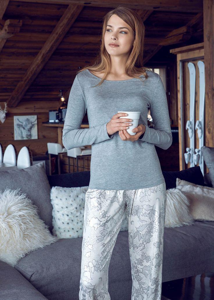 Penye Mood 7841 Bayan Pijama Takım   Mark-ha.com