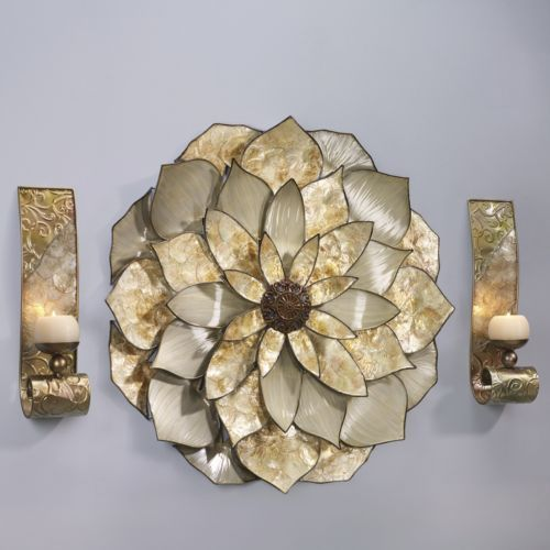Capiz Wall Sconce Pair From Montgomery Ward 174 Seventh