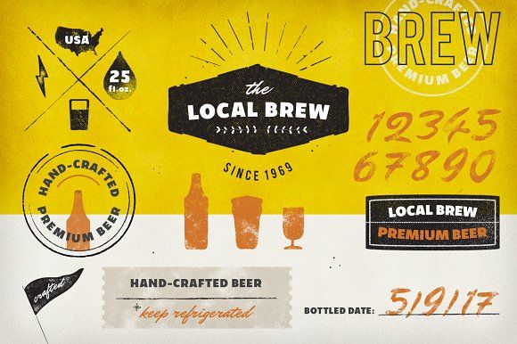 Vintage Logos & Badges: Local Brew by eppearance on @creativemarket
