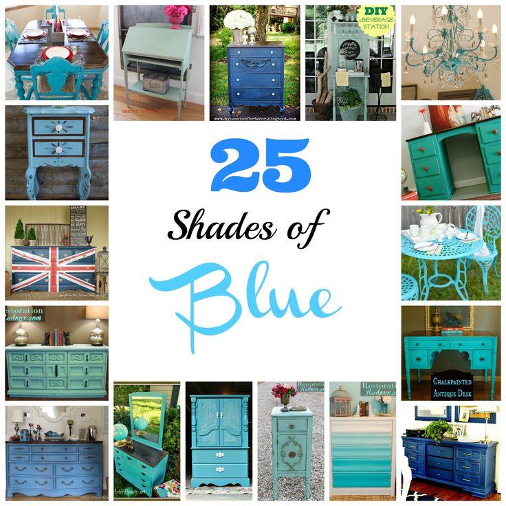Different Shades Of Blue Paint best 20+ blue furniture ideas on pinterest | diy blue furniture