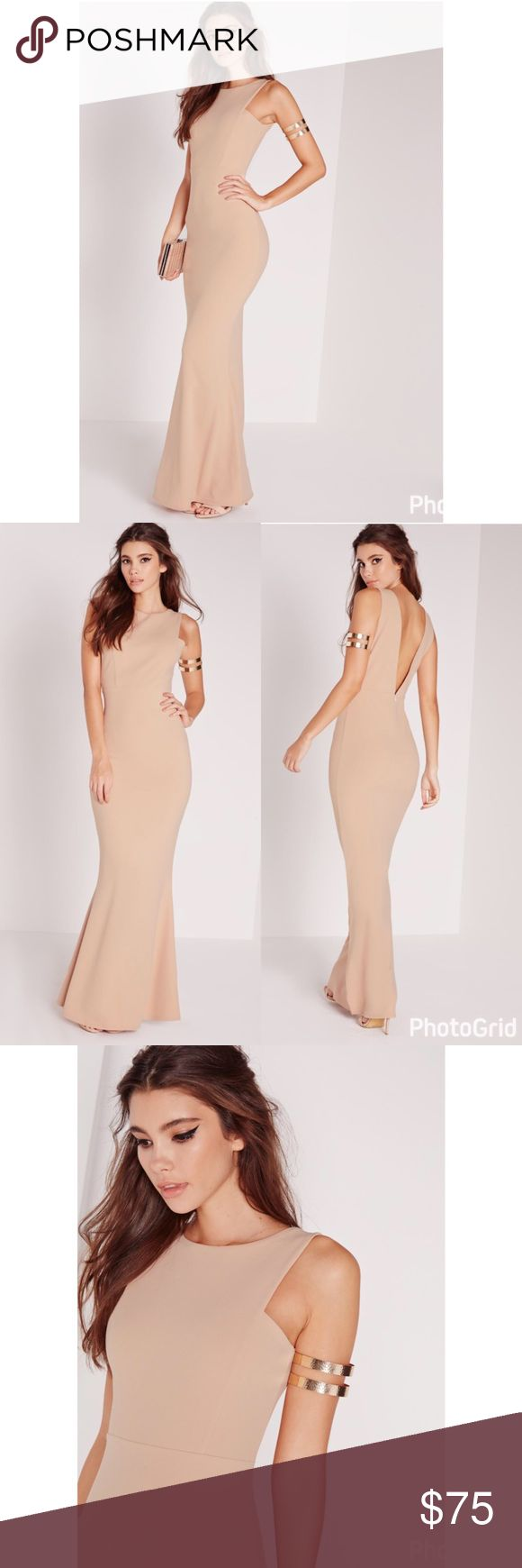 Low Back Nude Maxi Dress Gorgeous dress for any formal occasion. Dresses Wedding