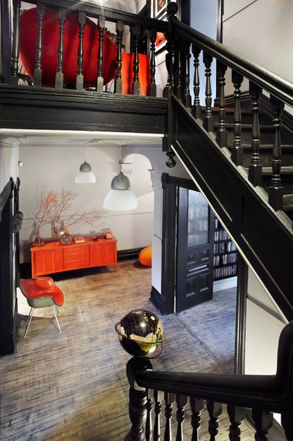 Houzz Tour: A Toronto Home Comes Back From the Brink | eclectic staircase by stephane chamard | Houzz