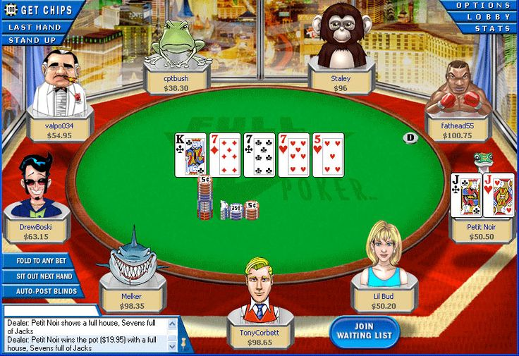 best online texas holdem casino