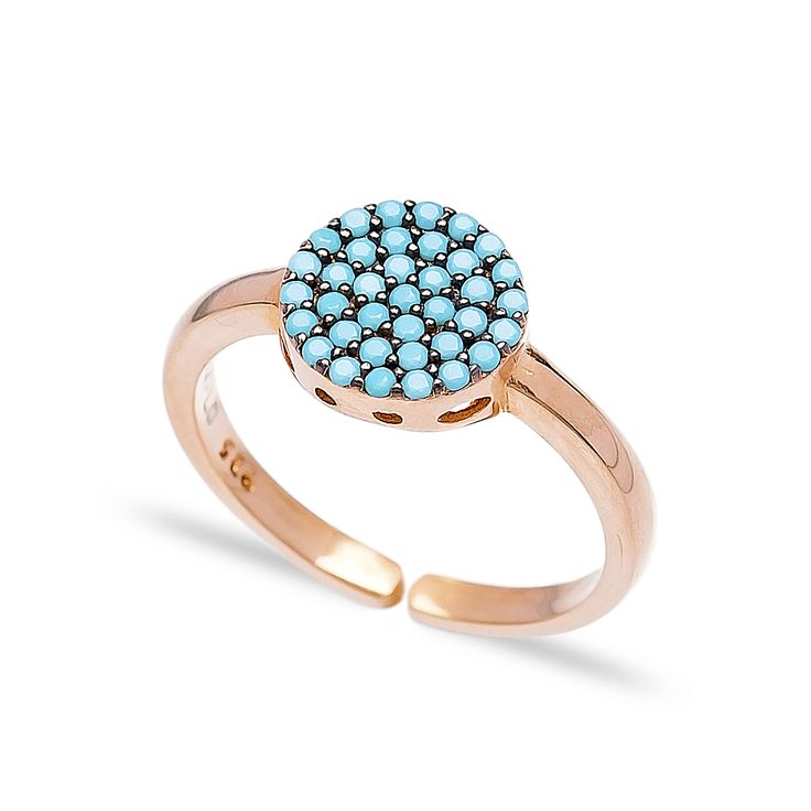 Δαχτυλίδι Mare Collection από ροζ επιχρυσωμένο ασήμι 925º με τυρκουάζ
