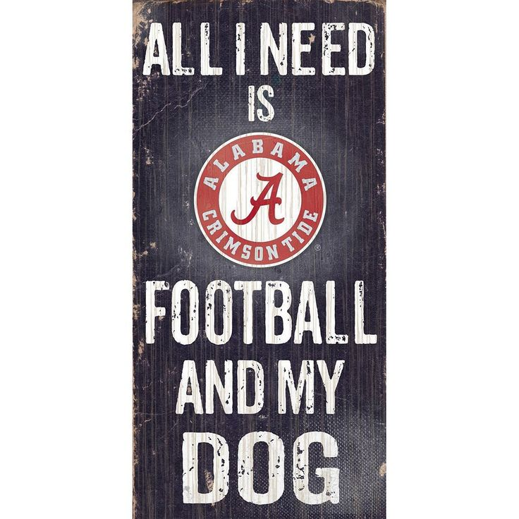 Alabama Crimson Tide Football & My Dog Sign, Multicolor