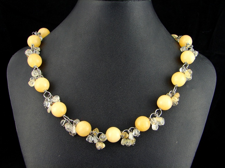 Argon and Citrine necklace
