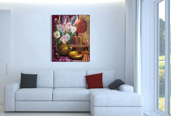 Still Life Wall Art-Khokhloma and flowers-Flowers от InnaShirokova