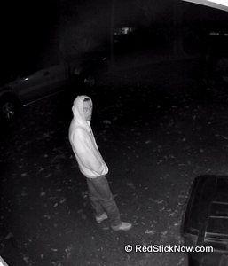 East Baton Rouge Sheriff Seeking Identity of Vehicle Burglar